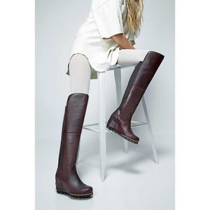 Sorel Fiona Over-the-Knee Waterproof Leather Boots